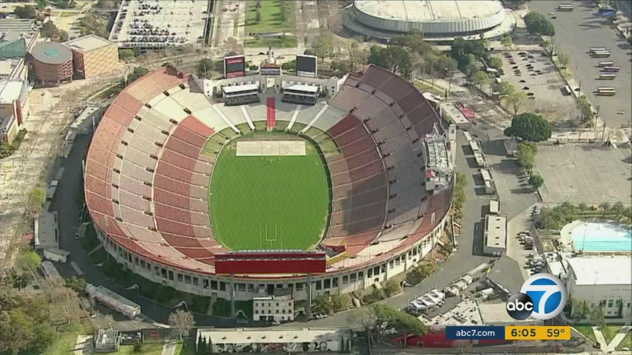 The Los Angeles Memorial Coliseum will host the Los Angeles Rams beginning in 2016 as a new stadium is built in Inglewood.