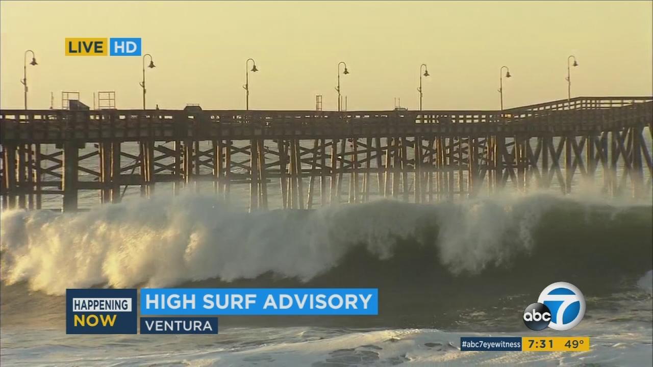 High surf pummels Southern California coast