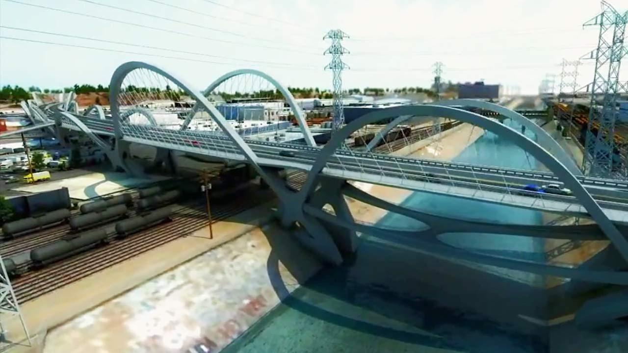 Animated rendering of the new Sixth Street Bridge.