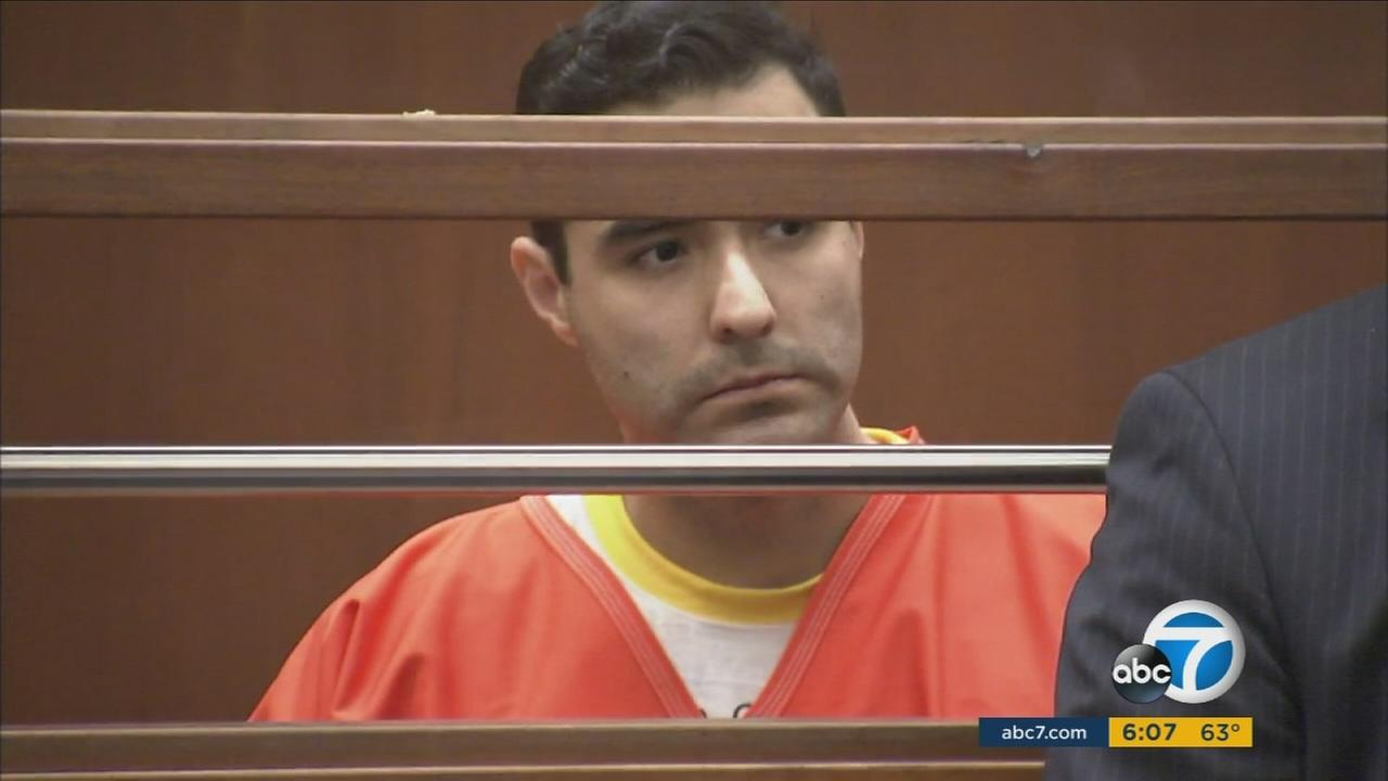 Henry Solis stands at a preliminary hearing in Downtown Los Angeles on Wednesday, Jan. 27, 2016, in the murder case of  Salome Junior Rodriguez.