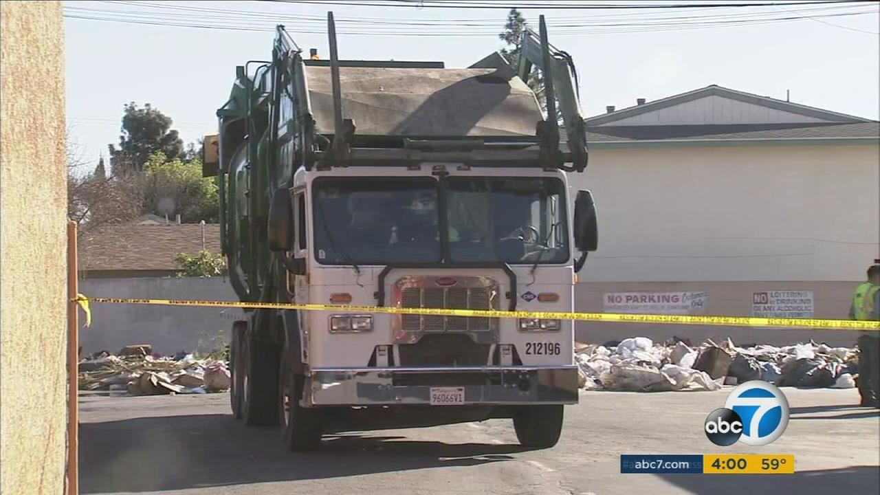 A father, who police said was under the influence of drugs, was taken into custody on Tuesday after he claimed his 3-year-old son fell into a dump truck in Santa Ana.