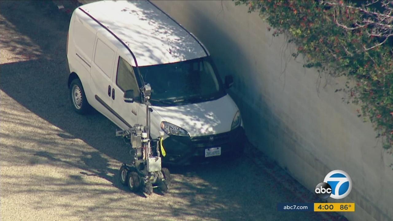 Corona police said a threatening note left on a van prompted the evacuation of Parkridge Elementary School on Tuesday, Feb. 9, 2016.