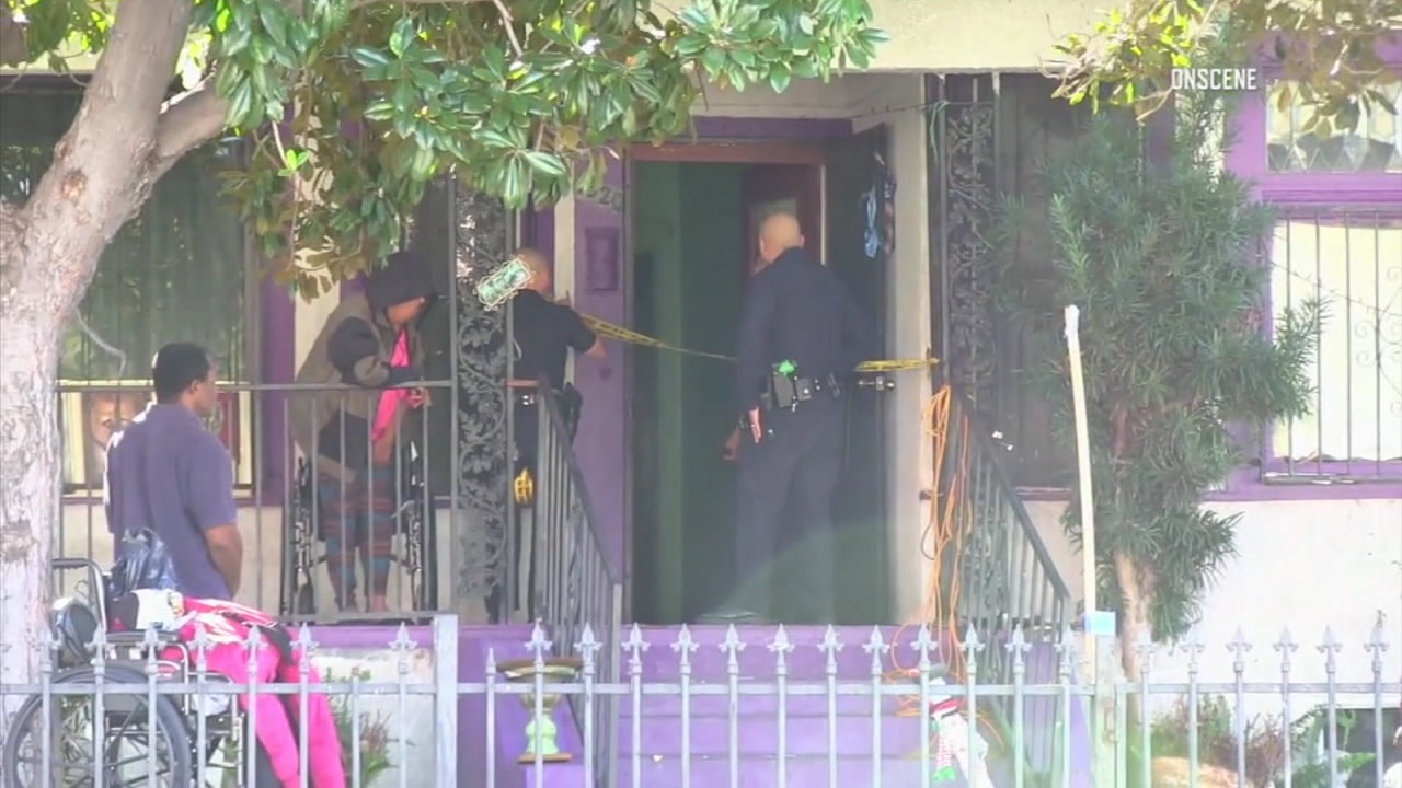 Police are investigating the death of a 4-year-old girl at a home in South Los Angeles.
