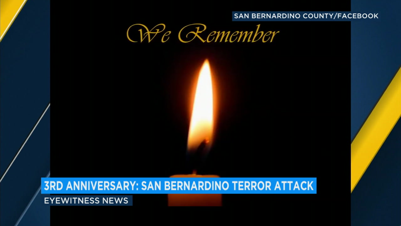 Southern Californians marked the third anniversary of the San Bernardino terror attacks with a moment of remembrance.