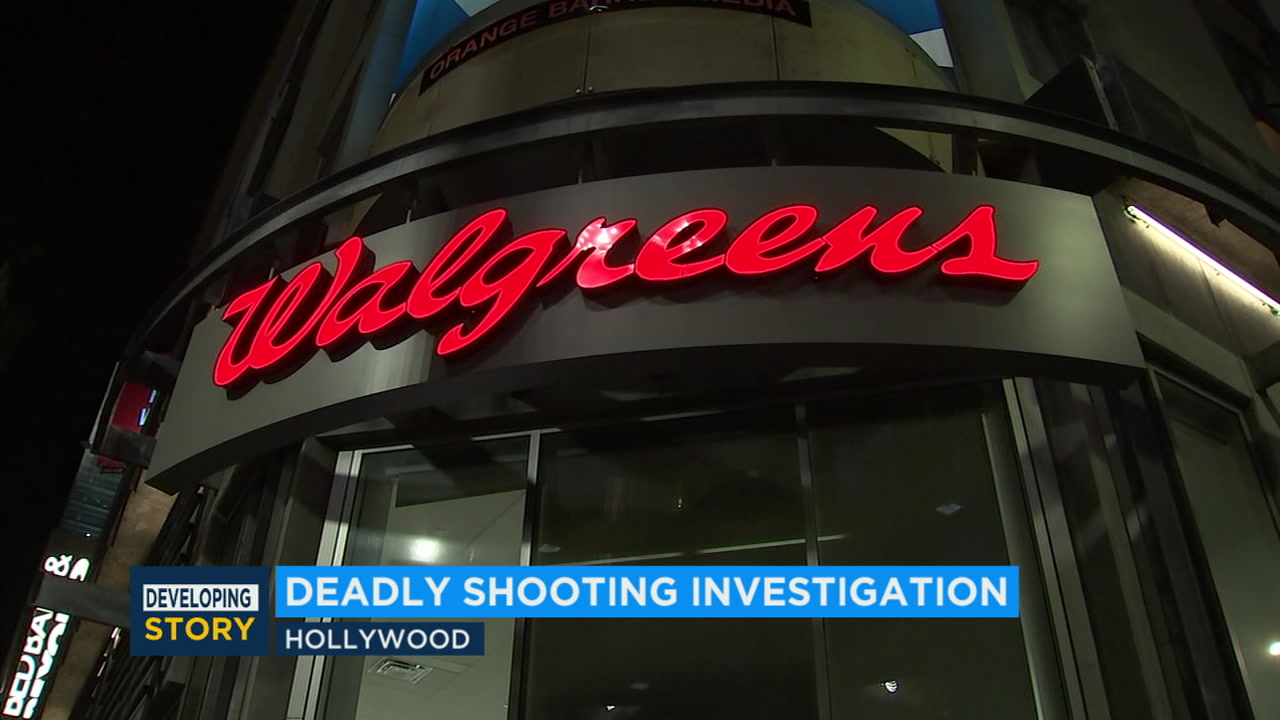 Police are investigating a fatal shooting at a Walgreens store in Hollywood.