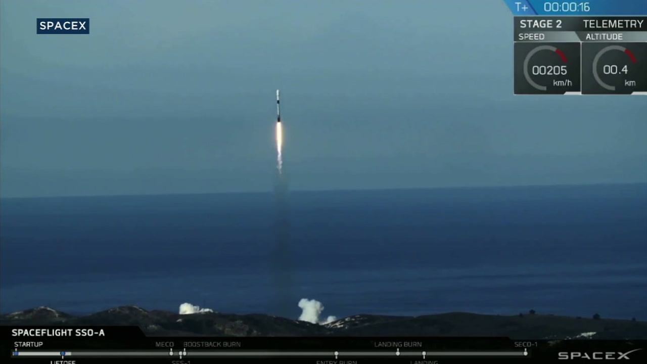 SpaceX launched its Falcon 9 rocket on Dec. 3, 2018.