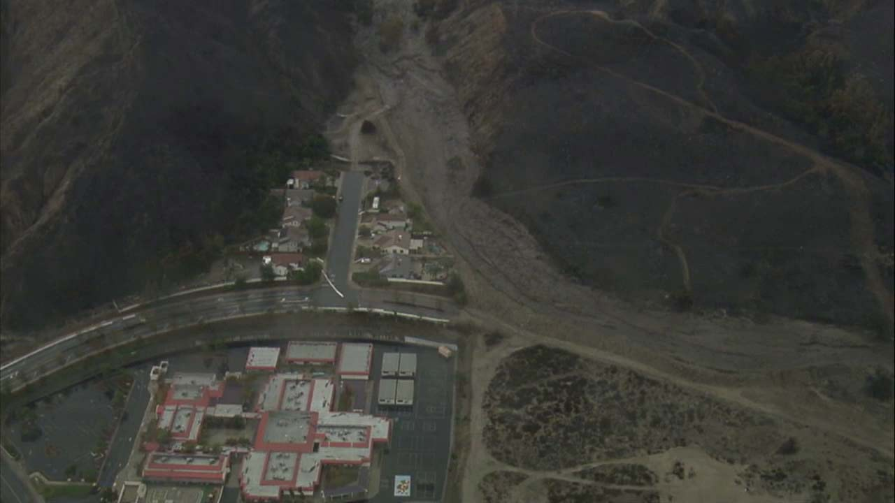 The Lake Elsinore saw significant mud and debris flow as rain doused the area on Thursday, Dec.6, 2018.