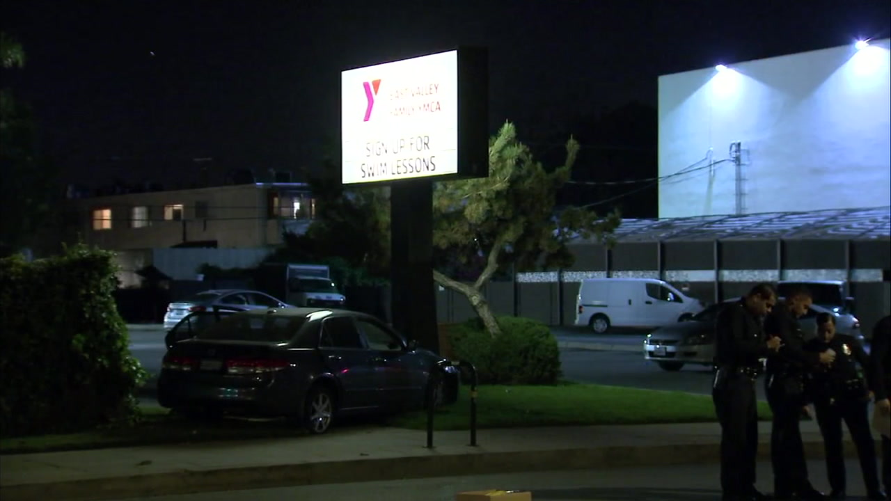 Two people were shot in a car-to-car shooting near a YMCA in North Hollywood on the evening of Dec. 7, 2018, police said.
