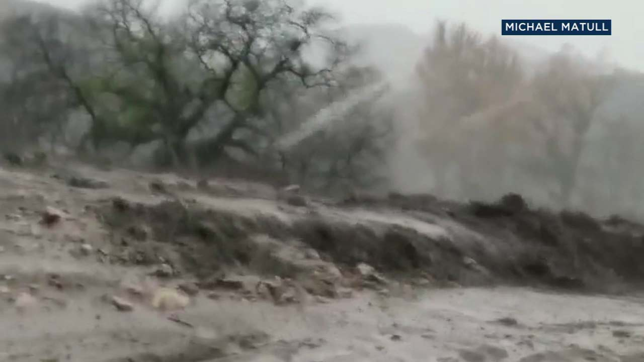 Michael Matull shot this stunning video of mud flows near Rice Canyon Elementary School on Thursday, Dec. 6, 2018.