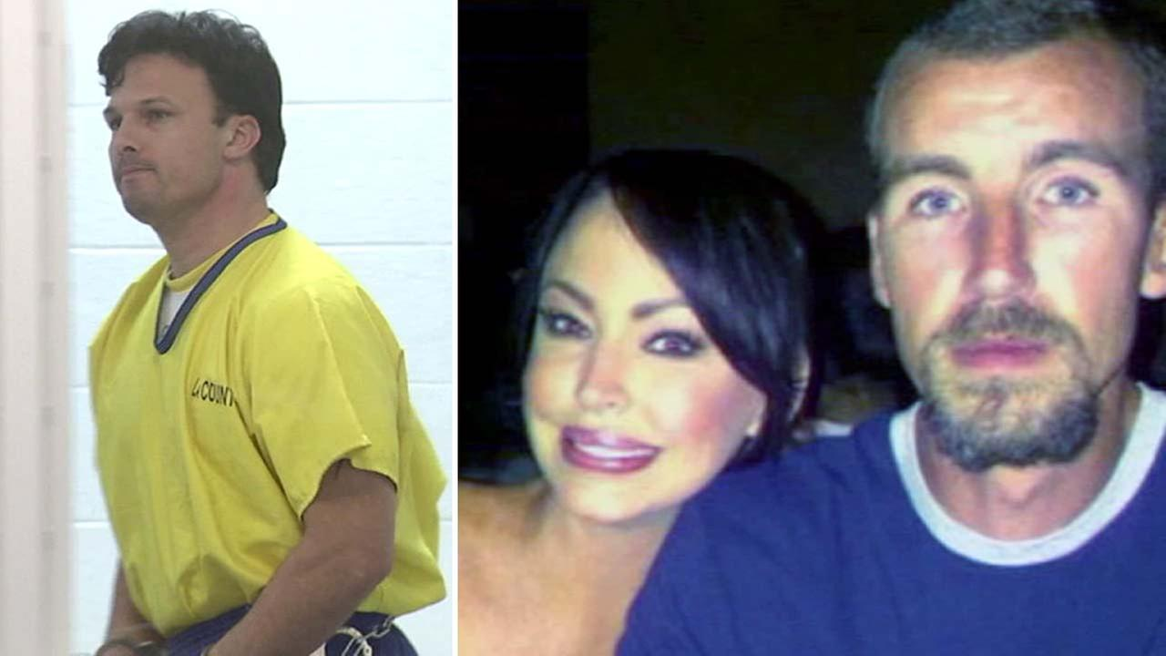 Ex-Power Ranger actor accused of murder, Ricardo Medina, (left) and his alleged murder victim Joshua Sutter pictured with his sister (right) in undated photos.