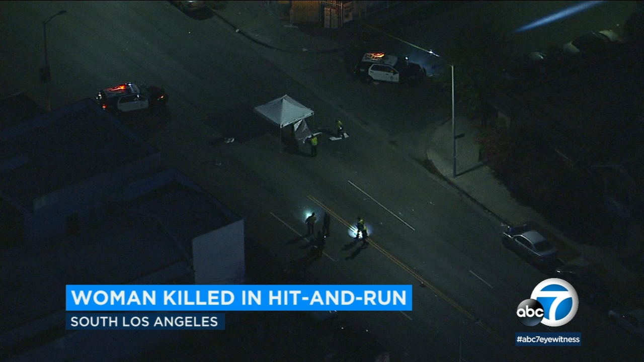 Police are looking for the hit-and-run driver who struck a woman in South Los Angeles.