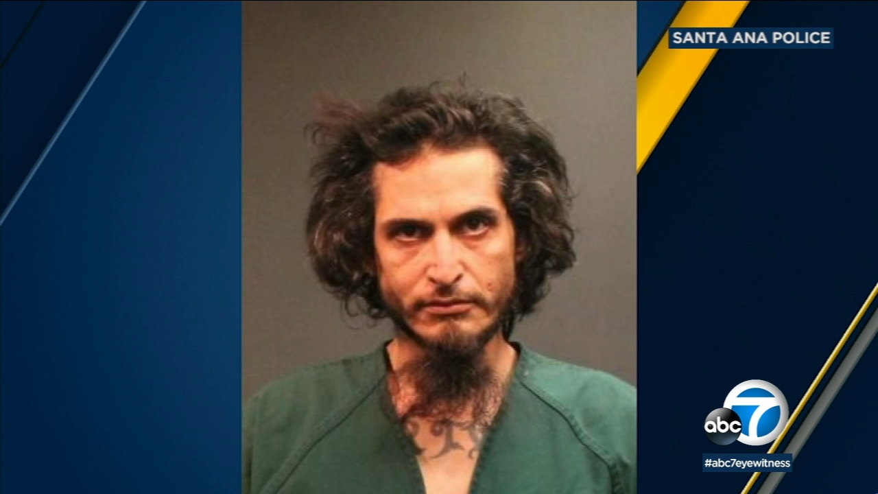 Police say Ruben Perez, 37, was living at a Santa Ana park and kept a loaded gun and ammunition in a storage room.