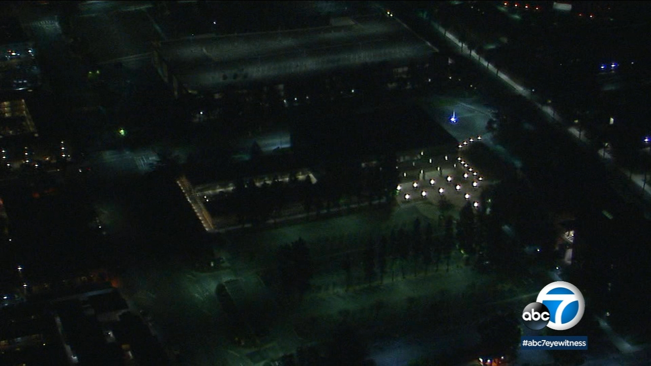 California State University, Northridge is shown in aerial shots from AIR7 HD on Wednesday, Dec. 12, 2018.