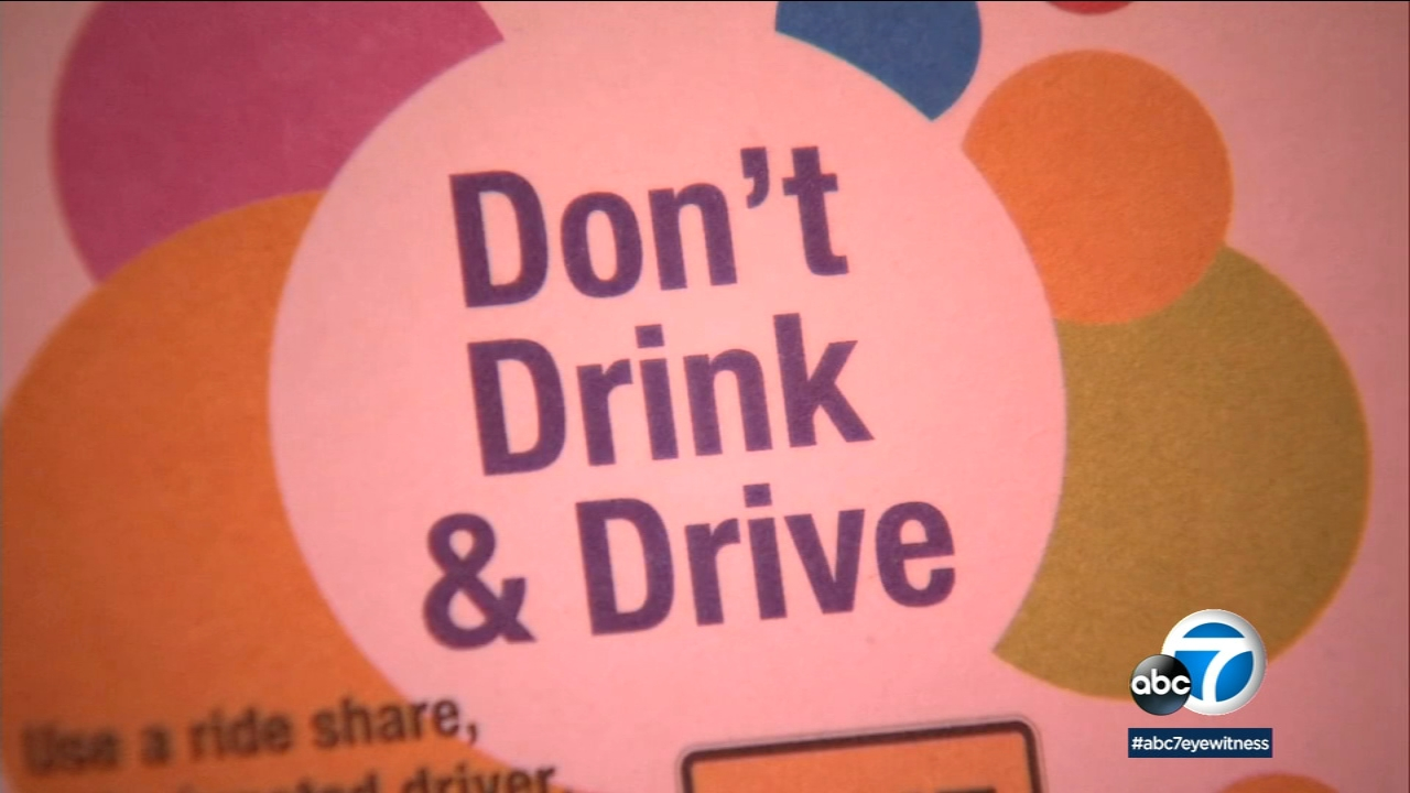 A closeup of a coaster shows the message for people not to drink and drive during the holiday season.