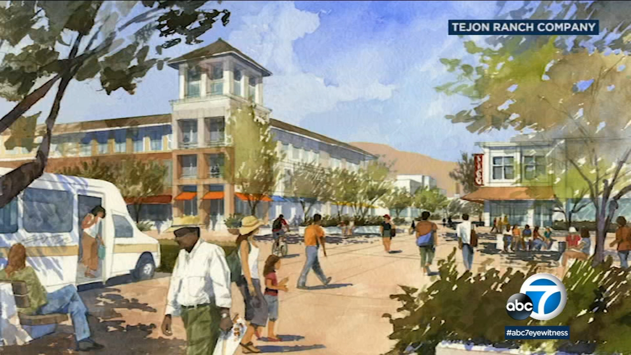 A rendering of a mega-development by the Tejon Ranch Company.