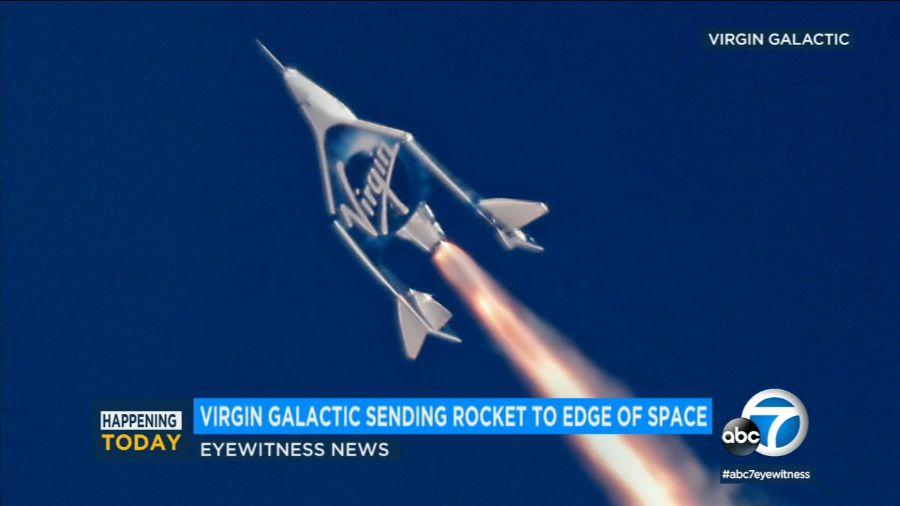 Virgin Galactic is preparing to fly its rocket-powered plane to the edge of space Thursday high above the Mojave Desert.