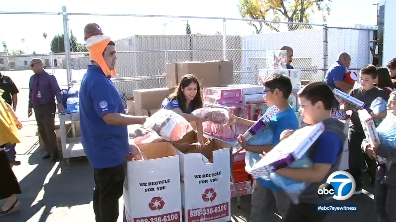 There was a holiday surprise for students at Telfair Elementary School in Pacoima on Thursday.