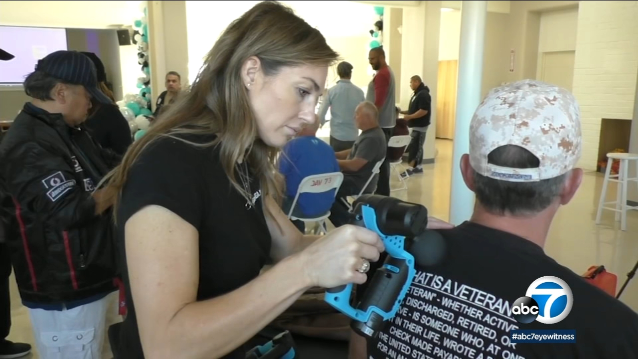 A local chiropractor has figured out a way to offer some pain relief to veterans returning home from the battlefield.