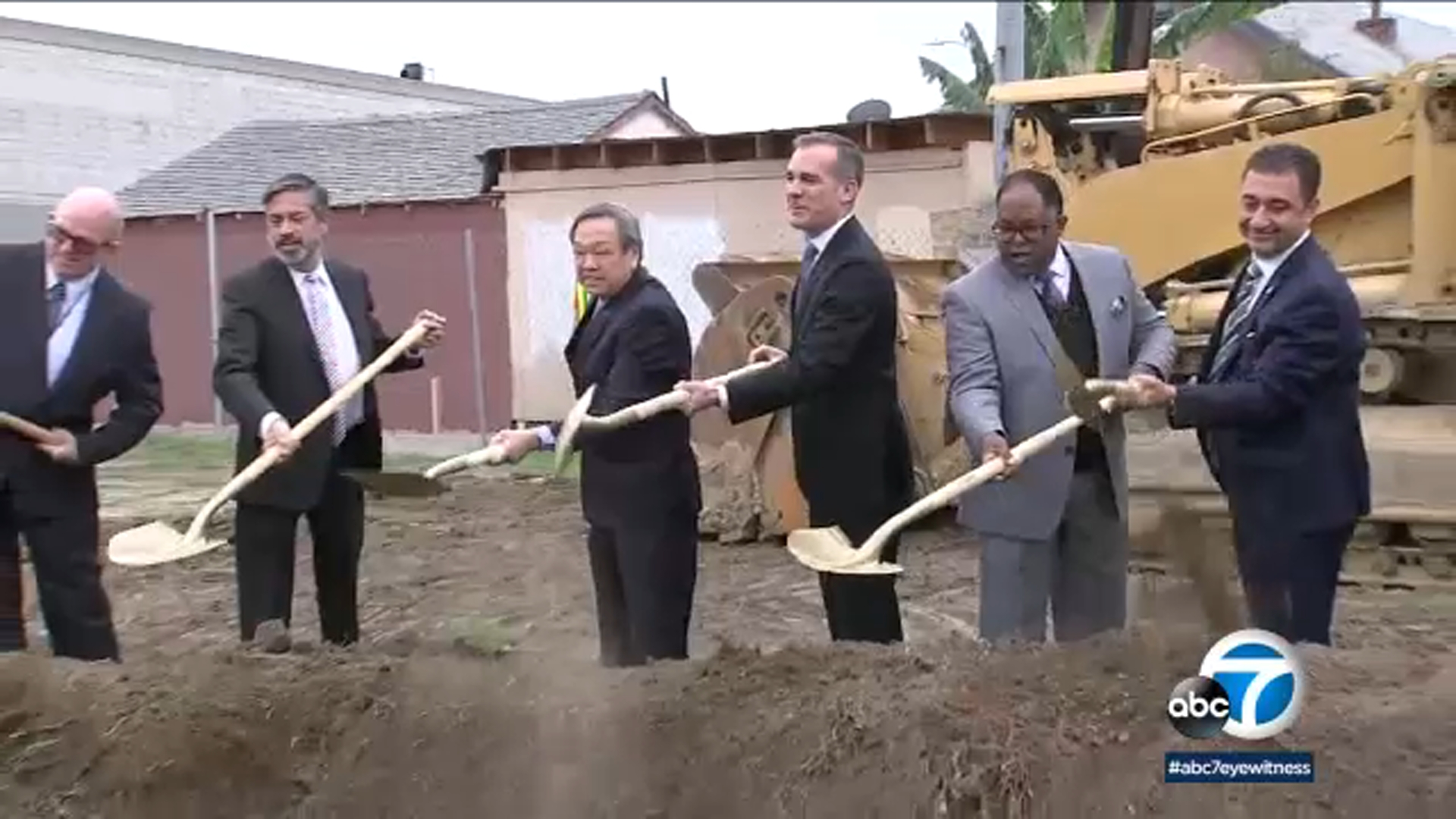City officials on Friday broke ground on a $32 million-apartment complex in South Los Angeles for the homeless.