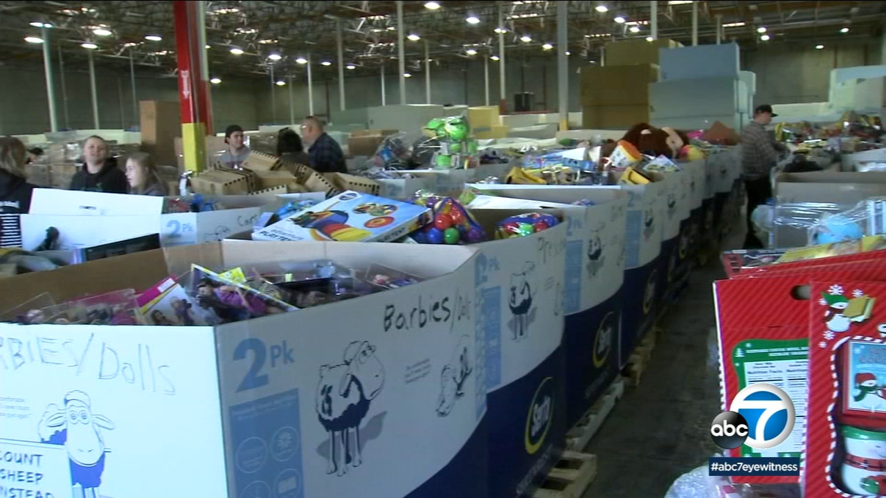 Thousands of toys made their way into the hands children in the Inland Empire on Saturday.