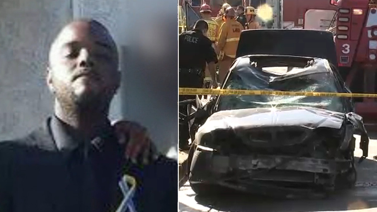 A photo shows 27-year-old Christopher Giles, who was killed along with his girlfriend after crashing into a building in Hyde Park on Sunday, Dec. 16, 2018.