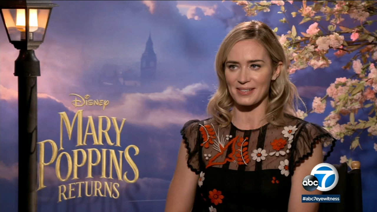 Emily Blunt sings and dances her way through Mary Poppins Returns.
