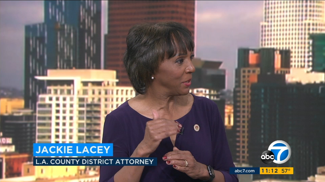 Los Angeles County District Attorney Jackie Lacey spoke about a deputy-involved shooting case in Norwalk as well as tips on avoiding fundraising scams.