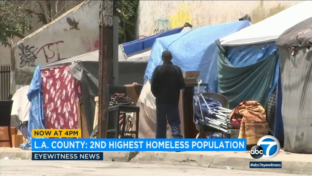 Los Angeles County has the second-highest number of homeless people in the nation, trailing only New York City.