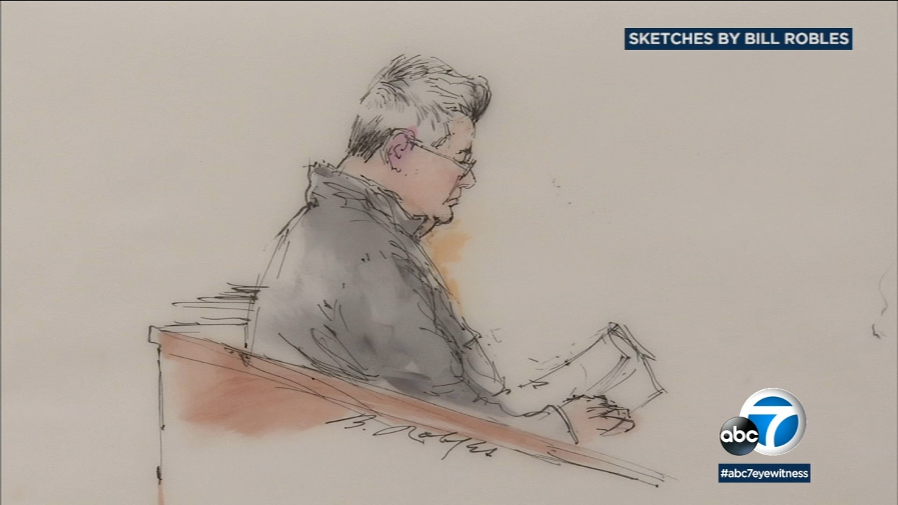Dr. Dzung Ahn Pham, 57, is shown in a court sketch during his first appearance in Santa Ana.
