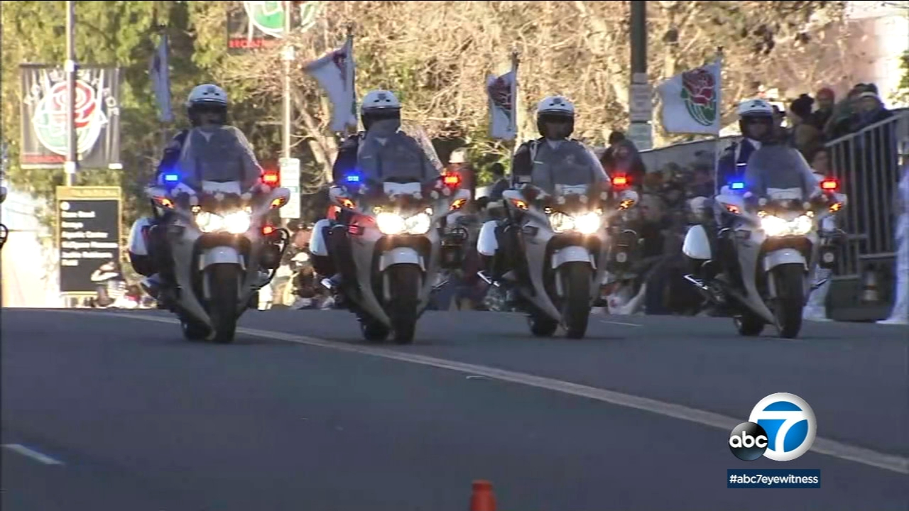 In this undated photo, motor officers participate in the annual Rose Parade.