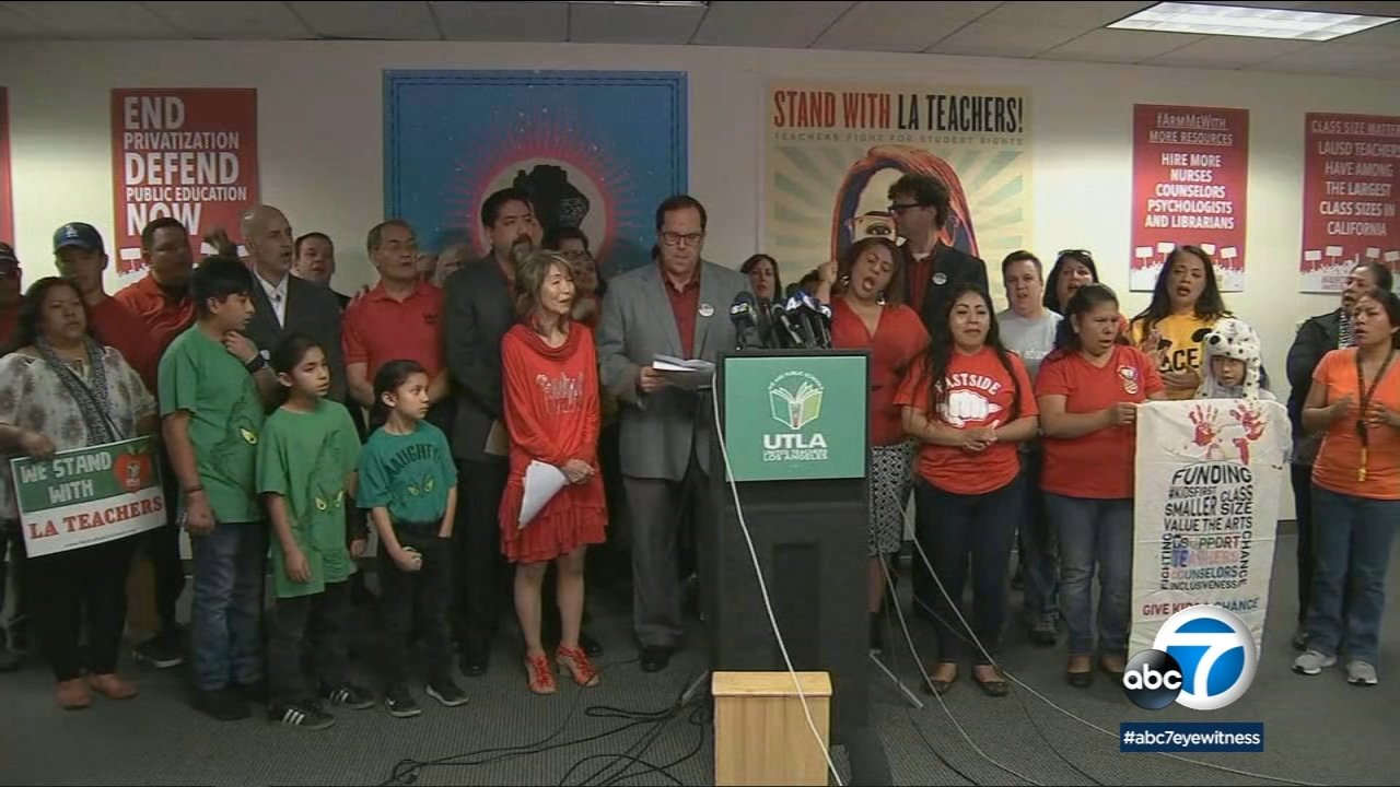 On Wednesday, Dec. 19, 2018, the president of United Teachers Los Angeles said the union will go on strike Jan. 10 if an agreement is not reached with the LAUSD.