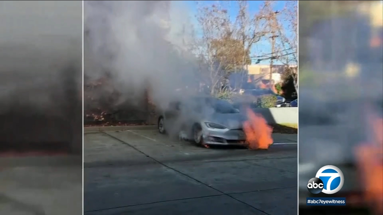 A Tesla owner in Northern California says his Model S caught fire not once - but twice - on the same day.