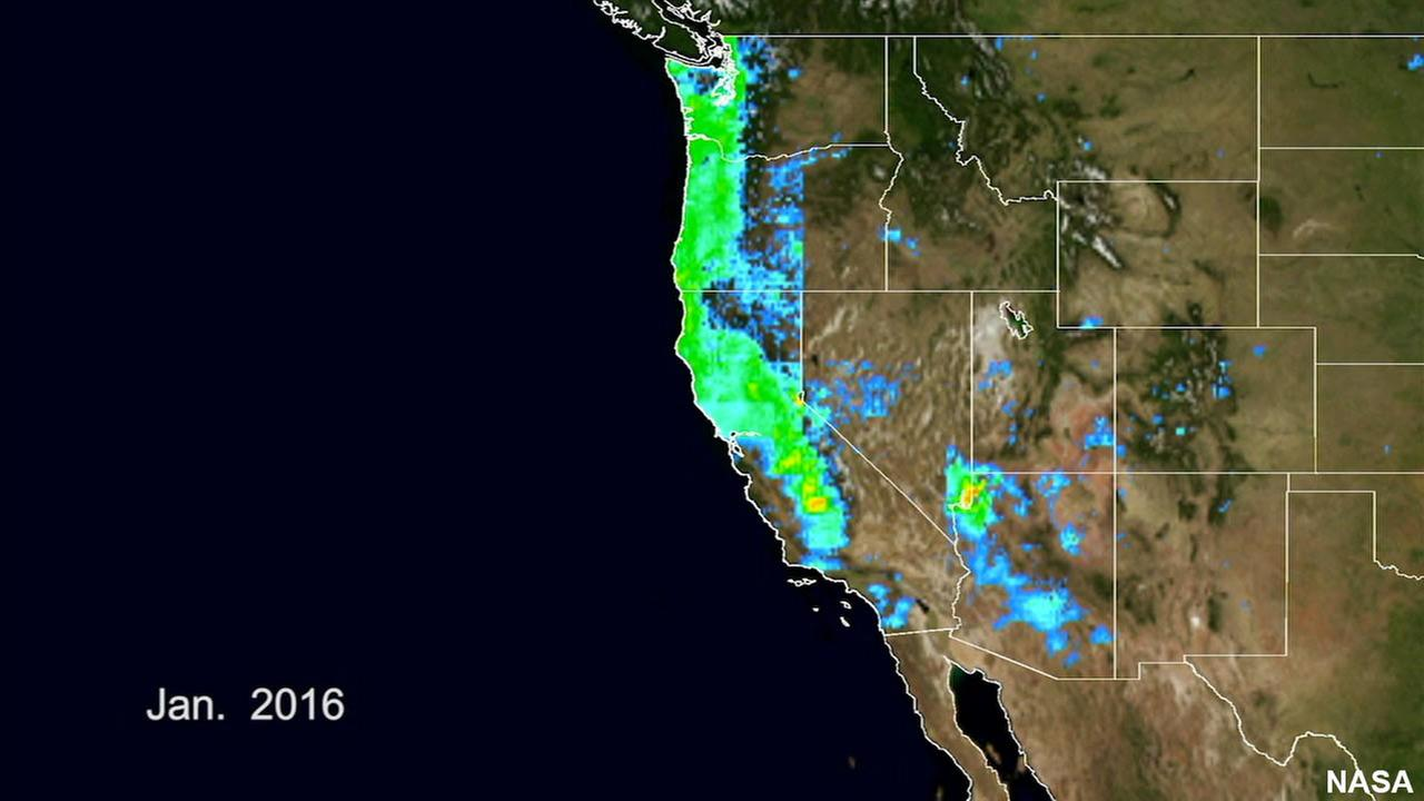 This image from Nasa shows Californias weather pattern.