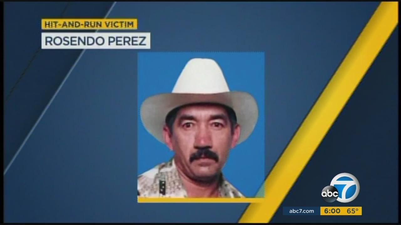 Rosendo Perez, 57, was killed in a hit-and-run crash in Stanton, Calif., on Thursday, Feb. 25, 2016.
