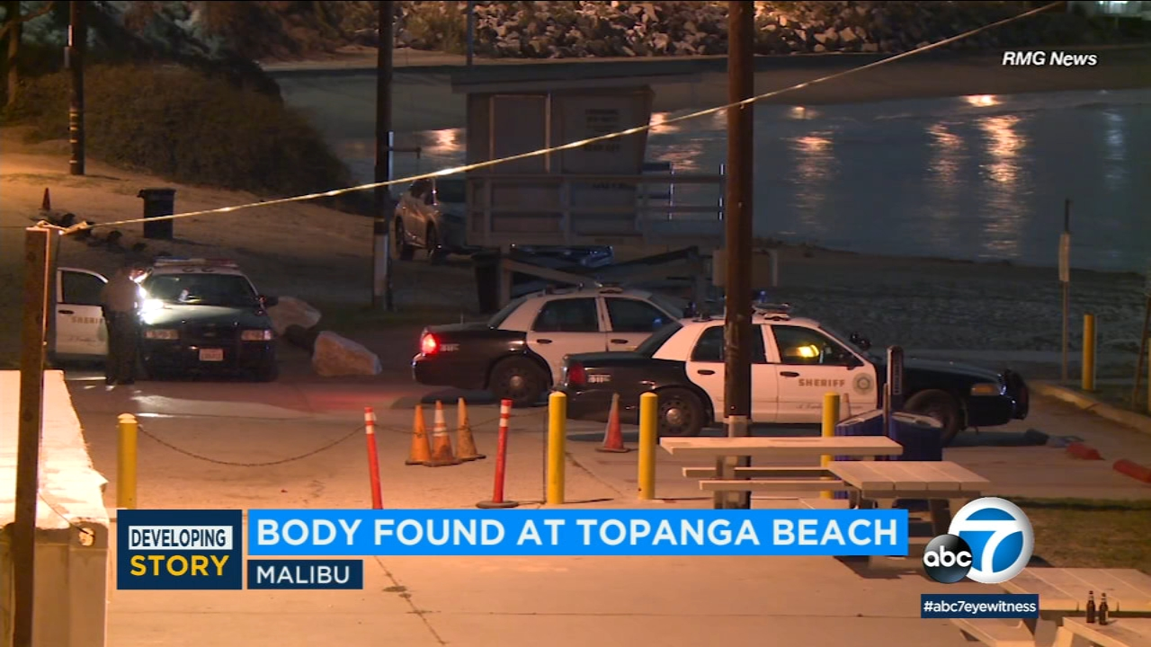 A mans body was found at Topanga Beach in Malibu Thursday night and officials say he may have drowned.