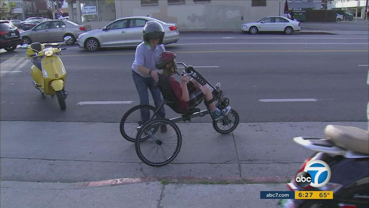 A Burbank teen with cerebral palsy had his stolen bike replaced through community donations.