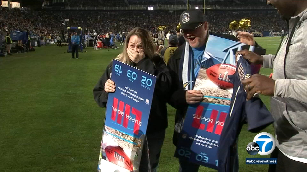 ABC7 teamed up with the Los Angeles Chargers to honor a local woman who became a hero during the Borderline mass shooting in Thousand Oaks.
