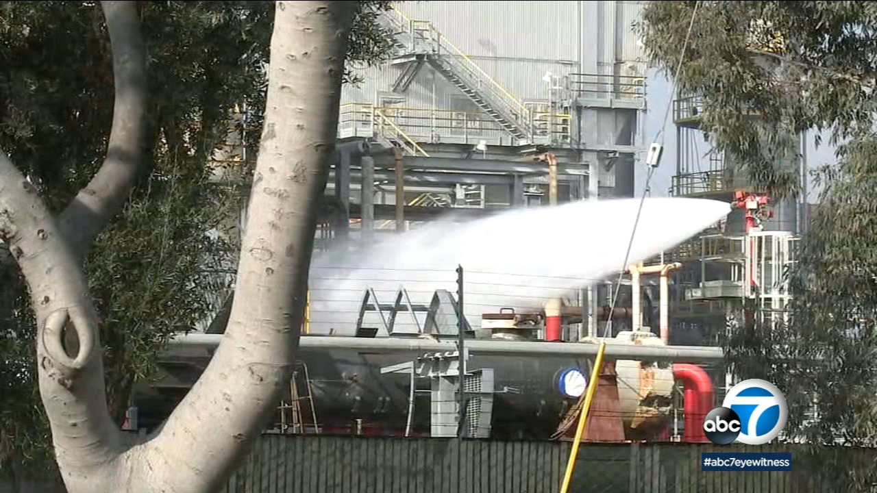 Torrance and Los Angeles County firefighters as well as a hazmat task force responded to reports of a possible acid leak at the Torrance refinery Saturday morning.