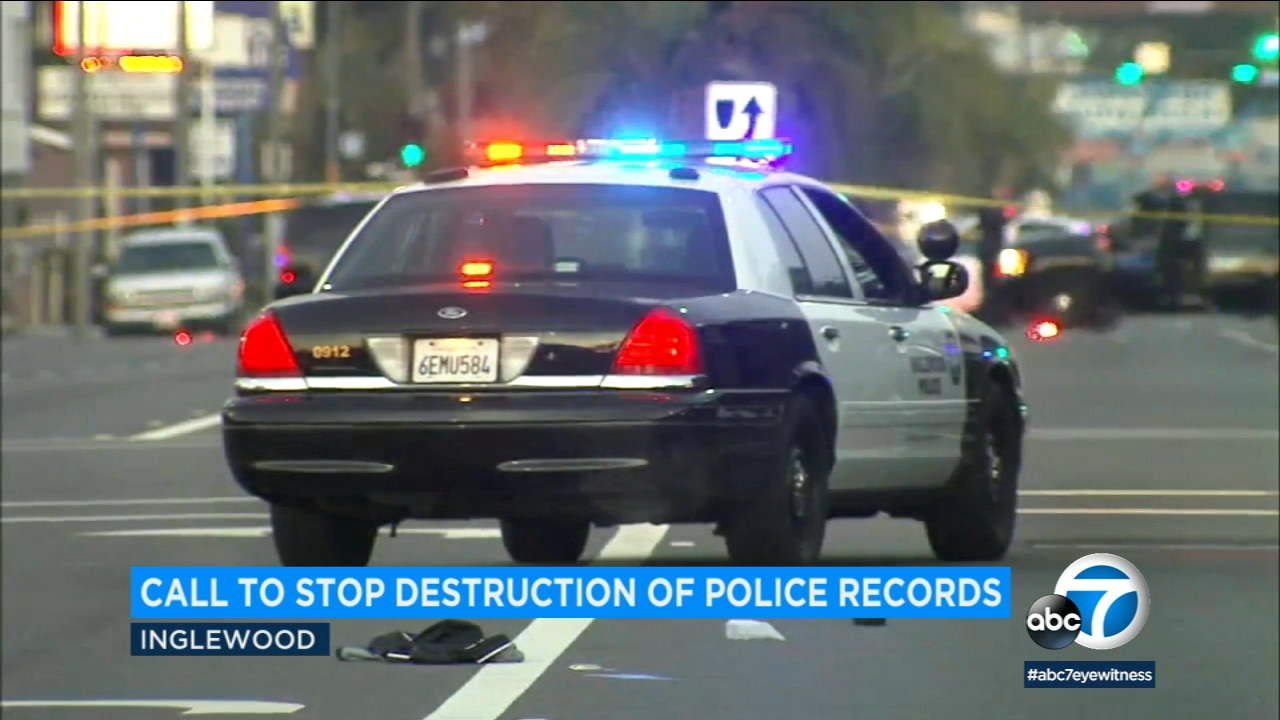 Activists are blasting the city of Inglewood for a plan to destroy about 100 records relating to police shooting investigations.