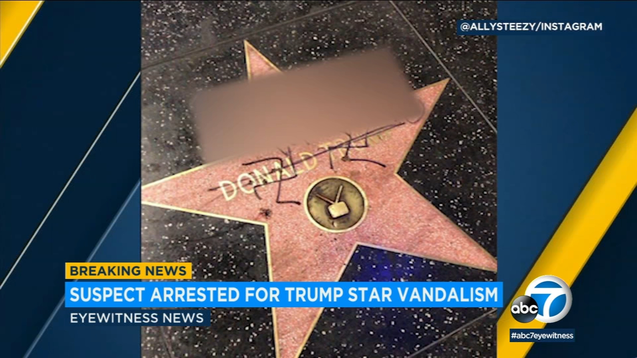 A suspect has been arrested for allegedly drawing swastikas on President Donald Trumps star on the Hollywood Walk of Fame.
