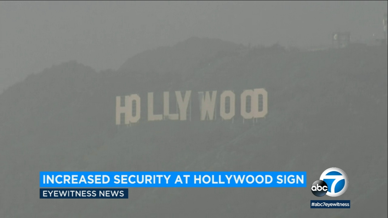 Police have stepped up patrols near the Hollywood sign to avoid a repeat of the last New Years Day vandalism that turned it into Hollyweed.