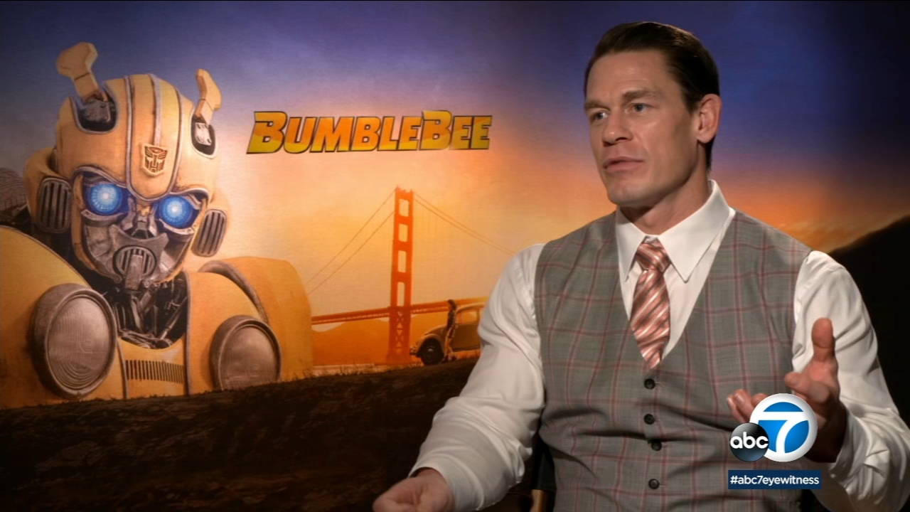 Bumblebee star John Cena proud to have military vets serve as extras in new action movie Bumblebee.