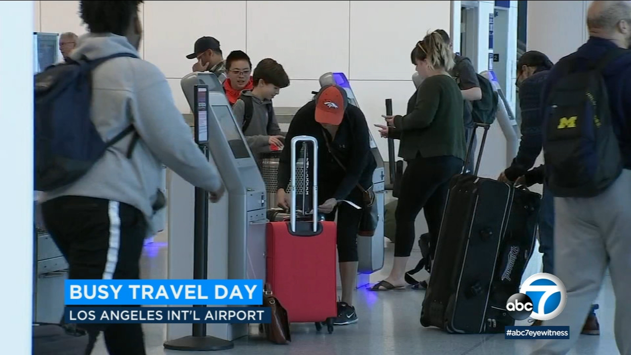 Wednesday is expected to be the busiest day of the holiday travel season at Los Angeles International Airport.