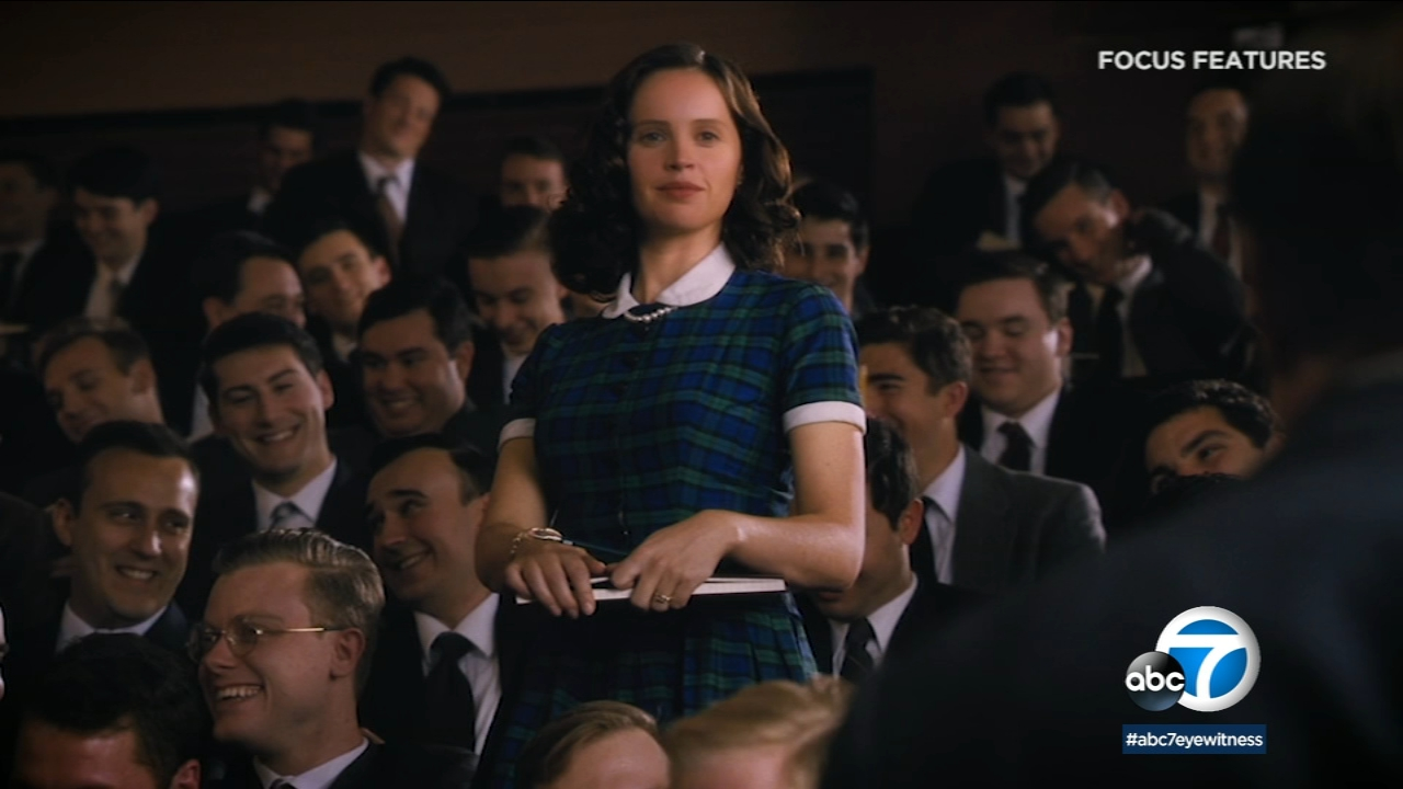 Felicity Jones plays a young Ruth Bader Ginsburg in On the Basis of Sex.