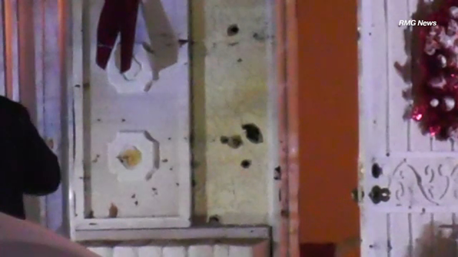 A Hemet home was left riddled with bullets after a suspect engaged in a shootout with police Wednesday night.