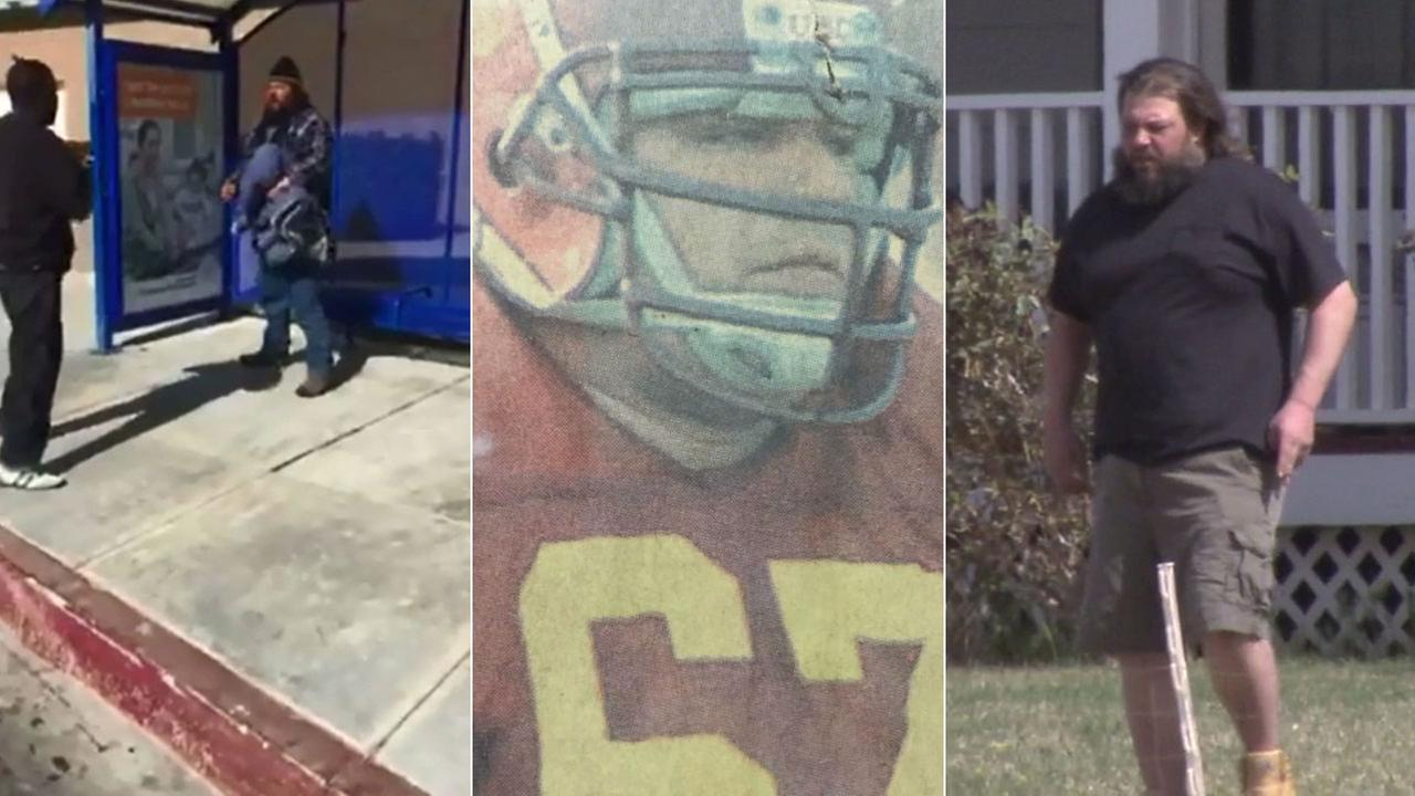 Former USC football player Chris Brymer is seen in these images.