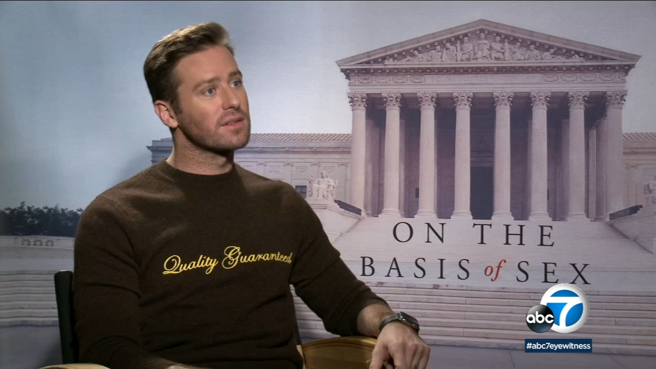 In the new movie On The Basis Of Sex, Armie Hammer plays attorney Martin Ginsburg.