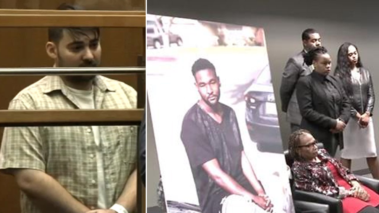 A former security guard is in court on Jan. 31, 2018, after being charged with the fatal shooting of a homeless man at a Hollywood Walgreens.