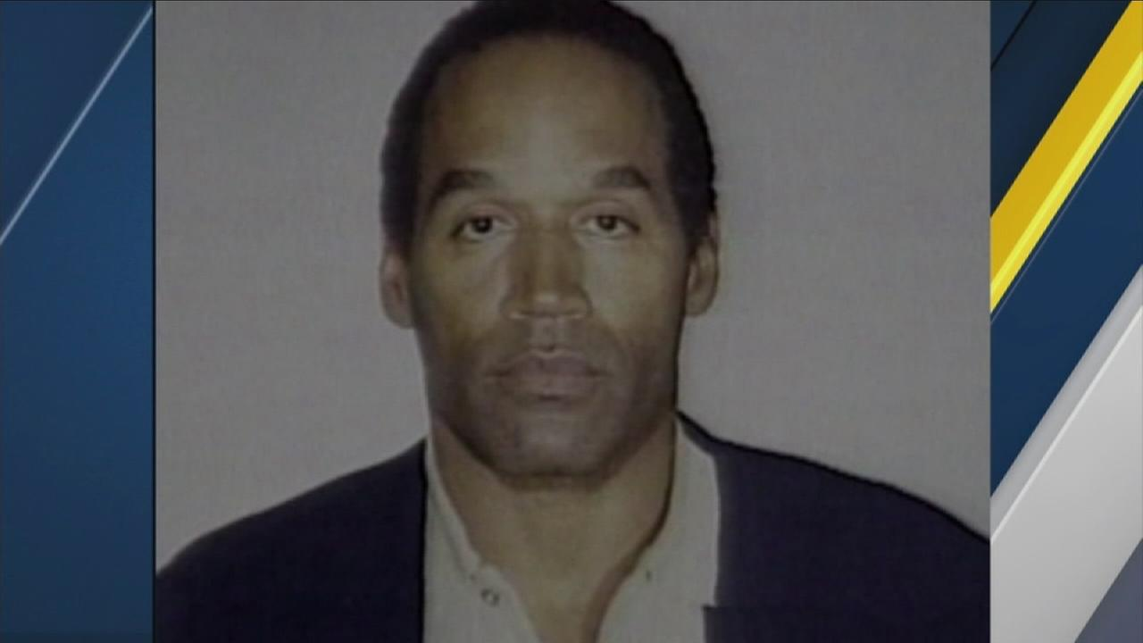 An undated file photo of OJ Simpson.
