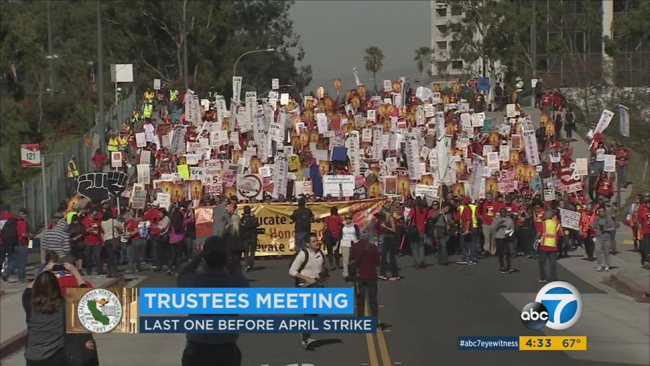 An April 13 strike date looms as faculty and Cal State University remain $70 million apart in contract negotiations.